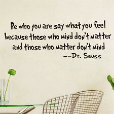 DR. SEUSS Quote Be Who You Are....Removable Vinyl wall art decal decor