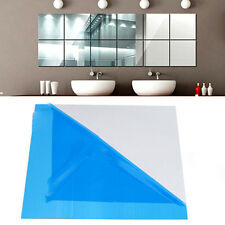 Hot 3X Square Mirror Tile 3D Wall Stickers Decal Mosaic Home Room DIY Decoration