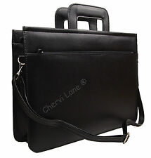 Faux Leather High Quality Business Folio Documents Briefcase Satchel Work Bag