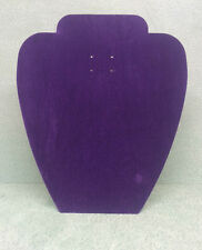 Set of 20 Jewellery Display Card Busts [A] Purple Suede