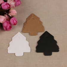 50pcs Christmas Tree Kraft Paper Label Price Hang Tags Gift Cards Wedding Party