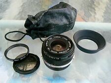 OLYMPUS ZUIKO 28MM F2.8 LENS MC VERSION WITH OM HOOD & CAPS *MINT-