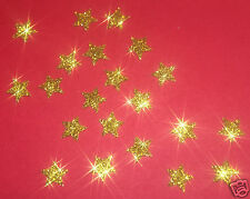 decorazioni da applicare 30 stelle 1cmFlex termoadesivo GLITTER ORO BIGIOTTERIA