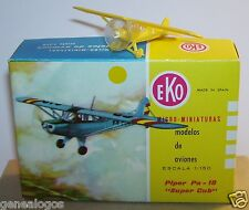 MICRO TOY EKO TOYEKO NO HO 1/150 AVION PIPER PA-18 SUPER CUB JAUNE REF 5005 BOX