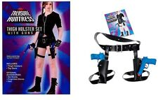 TWIN THIGH GUNS AND HOLSTER LARA CROFT TOMB RAIDER STYLE JOLIE FANCY DRESS
