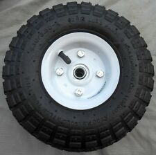 "1 NEW TIRE 10"" STEEL AIR PNEUMATIC, HAND TRUCK DOLLY, WAGON INDUSTRIAL WHEEL USA"