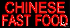 """NEW """"CHINESE FAST FOOD"""" 32x13 REAL NEON SIGN w/CUSTOM OPTIONS 10037"""
