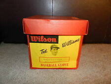 Vintage Wilson Ted Williams PACESETTER A2124 Baseball Glove Display Box ... Red