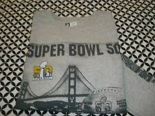NWT! NFL~SUPER BOWL 50~BRONCO'S&PANTHERS GRAY LONG SLEEVE T~SHIRT~SIZE LG~T1082