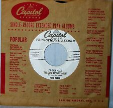 Fred Baker • I'd Only Make The Same Mistake Again • Original Capitol 45rpm