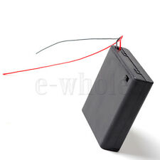 4 x AA Battery Holder Box 6V Case W/ lead ON/OFF Switch Enclosed Box Snap On TW