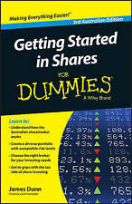 Getting Started in Shares for Dummies  Australian Edition Dunn, James new, freep