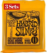 3 x Sets Ernie Ball Hybrid Slinky Nickel Wound 009 046 Electric Guitar Strings