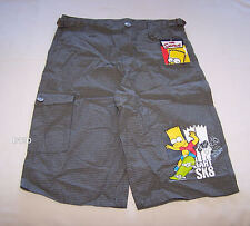 The Simpsons Boys Grey Check Printed Shorts Size 12 New
