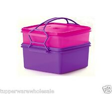 Tupperware Jumbo Goody Box 2L 4L Set of 2 with Cariolier x 1