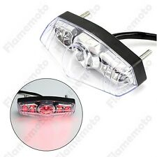 15 LED Motorcycle ATV Dirt Bike Brake Stop Running Tail Light Universal Clear