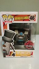FUNKO POP! Borderlands Gentleman Claptrap Figure - Gamestop Exclusive NEW