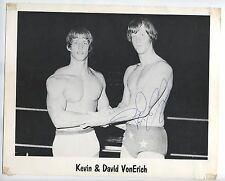 AUTOGRAPHED WCCW DAVID VON ERICH PHOTO wrestling wwf signed rare EARLY 1980'S