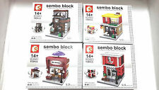 Like LEGO Fast Food SEMBO Block - 1 Set - 4 Shop lot 5D