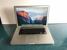 "Apple MacBook Pro 15.4""(Mid 2010 Core i7) 2.66GHz 4GB 256GB SSD, OS 10.11 El Cap"