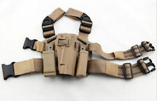 Quick-release Tactical Drop Leg Thigh Rig Holster With 2 Pouches For Colt 1911