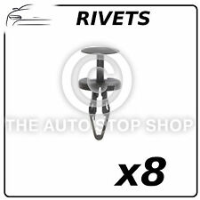 Clips Plastic Rivets 6,2 to 6,5 MM Ford B-Max 2012 Part 12640 Pack of 8