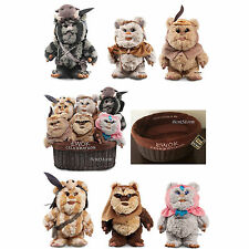 "9"" Star Wars Ewok Celebration Limited Edition 6 Plush Set W/Basket Disney Store"