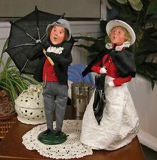 Byers Choice Carolers 2013 Singing In The Rain Set #403M/W NEW FREE SHIPPING