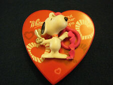 Whiltman Chocolate Empty Heart Shaped Plastic box with Snoopy Keychain