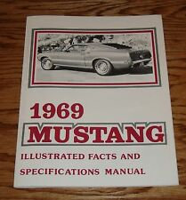 1969 Mustang Facts Features Specifications Manual Brochure 69