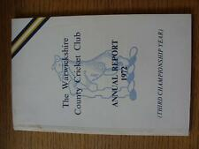 1972 Cricket: Warwickshire CCC - Annual Report