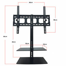 """TV Bracket with Floating Shelves Universal for 32"""" - 65"""" TV's Curved LED LCD"""
