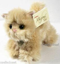 """Miyoni Tots APRICOT PERSIAN KITTEN 7"""" Plush Fluffy Cat Stuffed Animal Aurora NEW"""