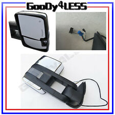 03-06 Silverado Sierra Towing Power Heated Mirrors Smoke LED Signal Pair Chrome