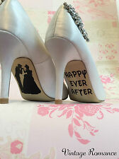 Cinderella Disney Princess Bride Wedding Shoe Sole Vinyl Decals Stickers Gift