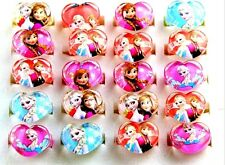 20 x Frozen Anna and Elsa cute kids Resin Heart Cartoon Party Gift Jewelry Rings