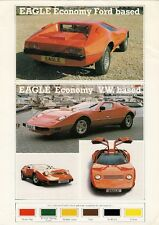 Eagle Economy Kit Car Mid 1980s UK Market Leaflet Sales Brochure Ford VW Based