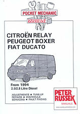 Citroen Relay Fiat Ducato peugeot Boxer Diesel Model to 2001 2.5 2.8 car Manual