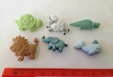 Baby animals  lion crocodile blue whale sheep Novelty Dress It Up buttons 5171