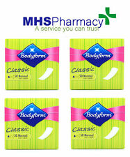 4 x Bodyform Classic 50 Normal Daily Panty Liners Sanitary Pads