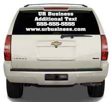 "Up to 14""x40"" Custom Vinyl Decal Business Lettering Window Vehicle Car Van Truck"