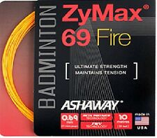 Ashaway ZyMax 69 Fire Badminton String - 0.69mm Orange (10m)