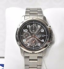 Seiko Titanium Military Chronograph SNA113P1 Men's Watch Gray Alarm SNA113