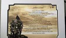"""Army Soldier's Creed with 11x 14"""" Mat Personalize with Name, Rank, Date"""