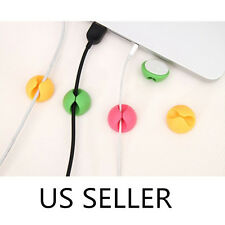 6PCS Multipurpose Cable Clips Desktop Wire Clip Holder USB Line Fixed-line Clamp