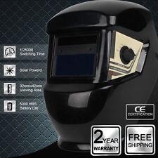 Auto Darkening Solar Power Welding Helmet  Welders Mask Delay Time ResponseBlack