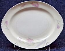 "Homer Laughlin Eggshell Nautilus Tulip Oval Serving Platter 13 5/8"" NICE!"