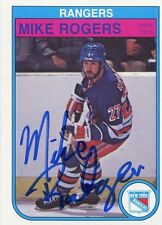 MIKE ROGERS RANGERS AUTOGRAPH AUTO 82-83 O-PEE-CHEE OPC #232 *30642
