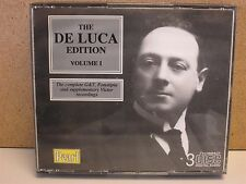 The Giuseppe De Luca Edition, Vol.1 G&T Fonotipia/Victor Recordings RARE 3-CD