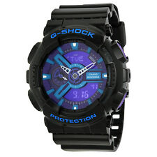 Casio G-Shock Multi-Function Analog-Digital Blue Dial Black Resin Mens Watch